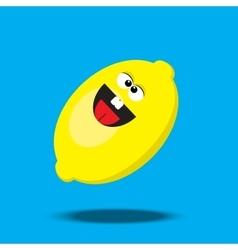 cartoon lemon character vector image vector image