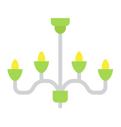 chandelier flat icon furniture and interior vector image vector image