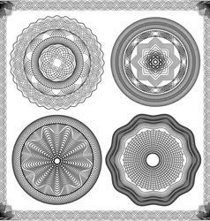 Set of Vintage backgrounds Guilloche ornament vector image