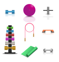 sports fitness icons vector image