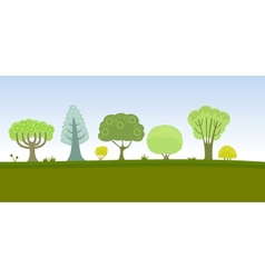 Trees pattern vector image