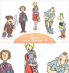 Cartoon Characters Set vector image vector image