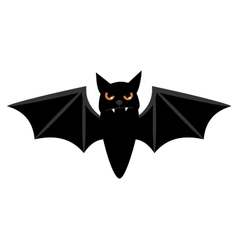Halloween flying bat isolated on white vector image vector image