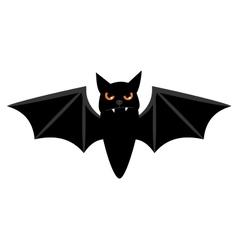 Halloween flying bat isolated on white vector image