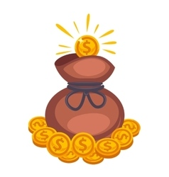 Money bag icon Isolated on white vector image vector image