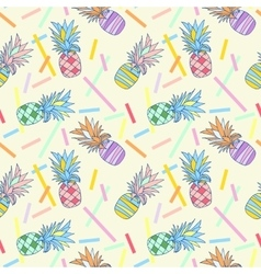 Pattern colour pineapple vector image