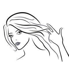 Young beautiful women vector image