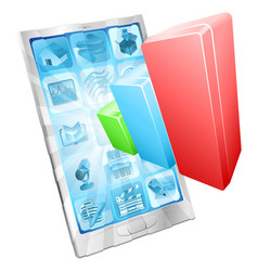 analytics phone app concept vector image vector image