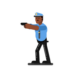 black police officer vector image vector image