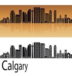 Calgary v2 skyline in orange vector