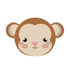 Cute little monkey animal character vector