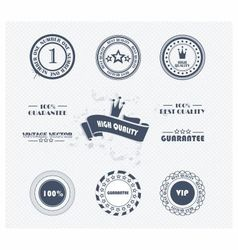 Labels vip vector image vector image