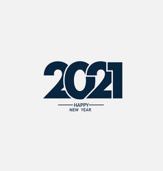 2021 happy new year logo text design vector
