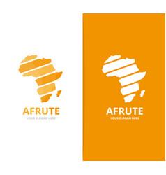 Africa logo combination safari symbol or vector