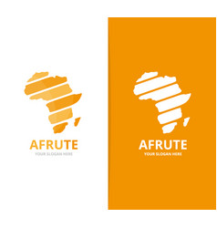 Africa logo combination safari symbol vector