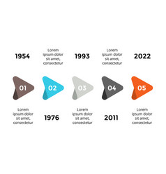 arrows triangles timeline infographic vector image