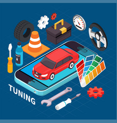 auto service and tuning vector image