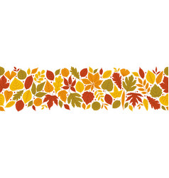 autumn bright background with varied leaves vector image