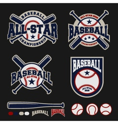 baseball badge logo design for logos vector image