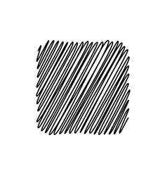 black scribble square background vector image