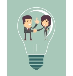 Business people agreed with the general idea vector image
