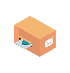 Cardboard box envelope correspondence postal mail vector