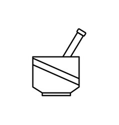 Chemical mortar icon vector