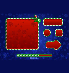 christmas game ui utilities for ui graphic assets vector image