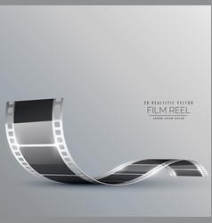 Clean film strip background vector