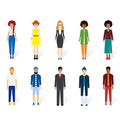 colorful people collection design vector image