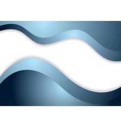 Corporate blue wavy design vector image