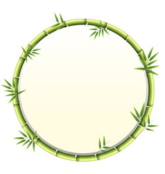 Curved bamboo frame design vector