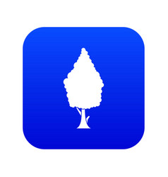 Cypress icon digital blue vector
