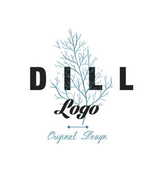Dill logo original design culinary spicy herb vector