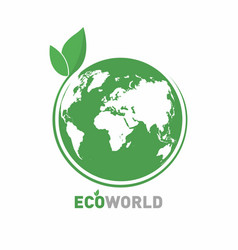Ecology logo eco world symbol icon eco friendly vector
