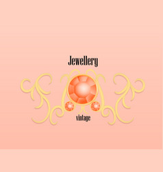 fashion jewellery vintage concept background vector image
