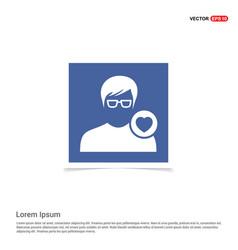 Favorite user icon - blue photo frame vector