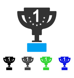 First prize cup flat icon vector