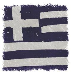 Flag of Greece handmade square shape vector image