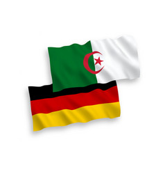 Flags algeria and germany on a white background vector