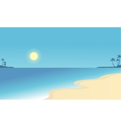 Flat of beach scenry collection vector