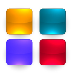 four glossy empty buttons set vector image
