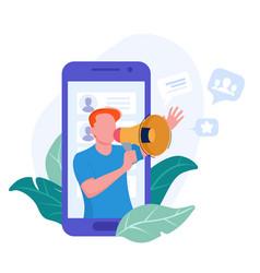 friend referral program concept marketing network vector image