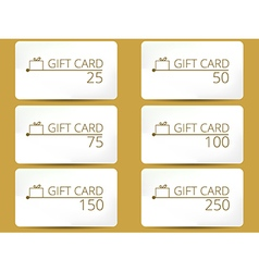 Gift card with a gift box set vector image
