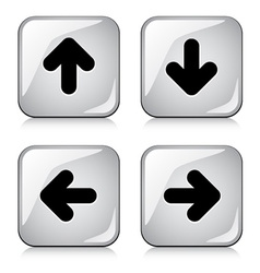 Glossy arrow buttons vector