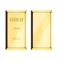Gold bar on white background vector