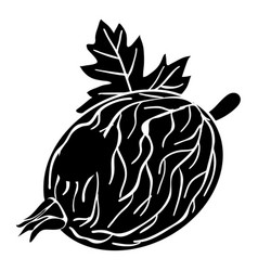 gooseberry icon simple style vector image