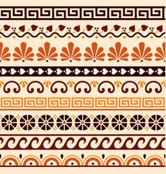 Greek key patter geometric seamless pattern vector