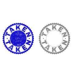 Grunge taken textured stamps vector