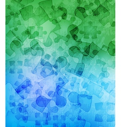 Grungy puzzle background vector